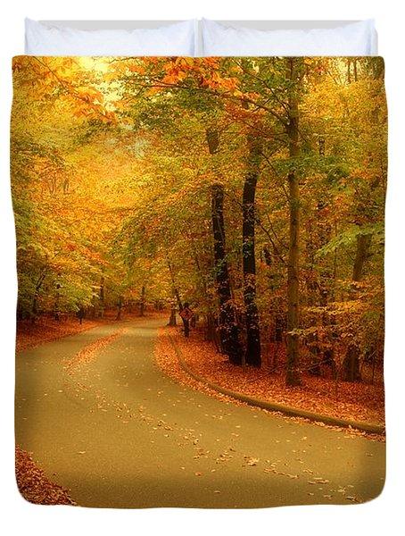 Autumn Serenity - Holmdel Park  Duvet Cover