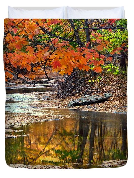 Autumn Serenity Duvet Cover by Frozen in Time Fine Art Photography