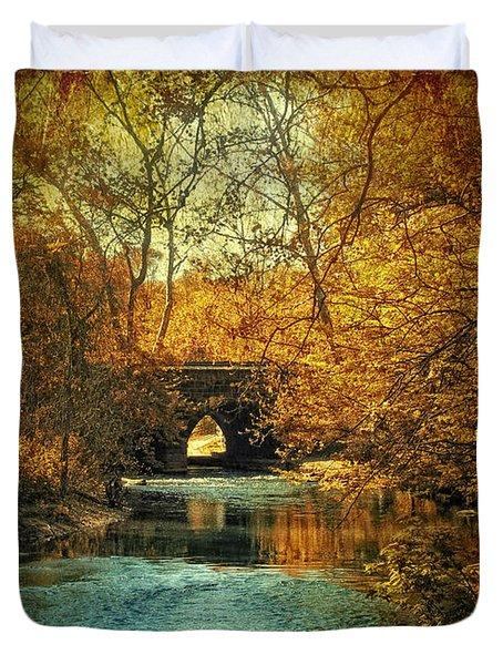 Autumn Shimmer Duvet Cover by Jessica Jenney