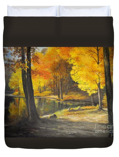 Autumn Silence  Duvet Cover