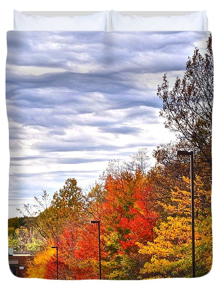 Autumn Sky Duvet Cover by Frozen in Time Fine Art Photography