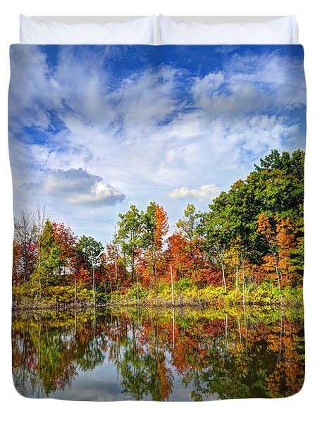 Autumn Sky Duvet Cover by Rodney Campbell