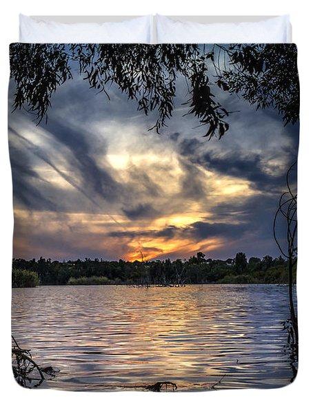 Autumn Sky Duvet Cover by Stelios Kleanthous