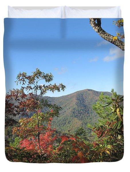 Autumn Smoky Mountains Duvet Cover by Melinda Fawver