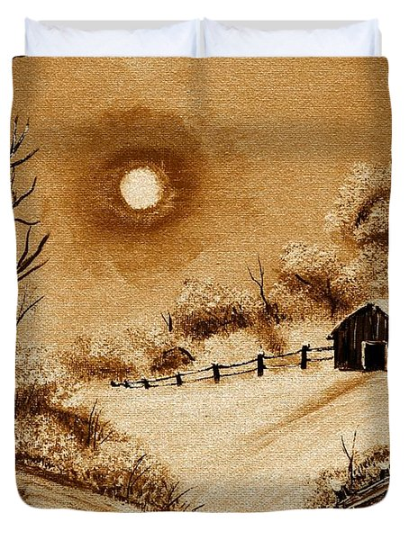 Autumn Snow Duvet Cover by Barbara Griffin