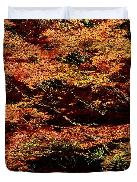 Autumn Solarisation 1 Duvet Cover by Rudi Prott