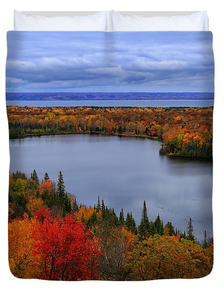 Autumn Spectacle  Duvet Cover by Rachel Cohen