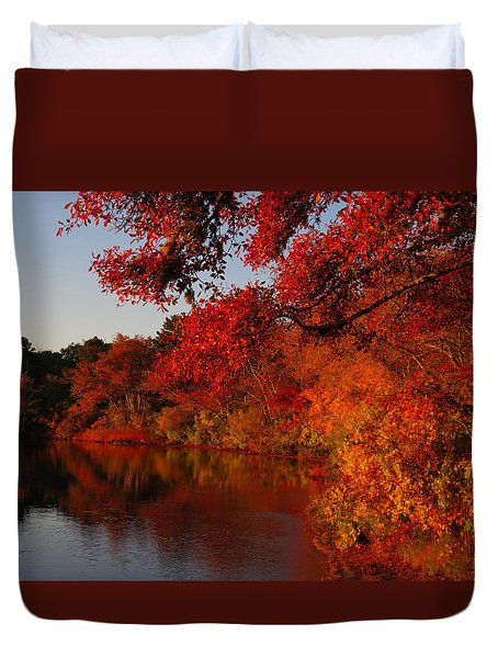 Duvet Cover featuring the photograph Autumn Splendor  by Dianne Cowen
