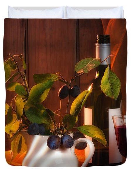 Autumn Still Life Duvet Cover by Amanda Elwell