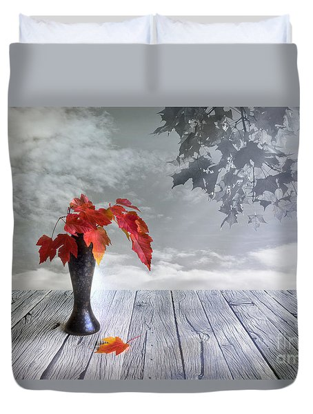 Autumn Still Life Duvet Cover by Veikko Suikkanen