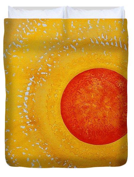 Autumn Sun Original Painting Duvet Cover by Sol Luckman