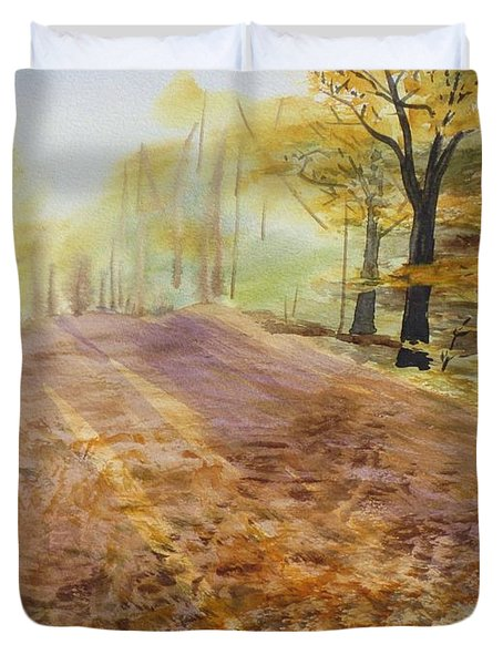Autumn Sunday Morning Duvet Cover