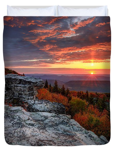 Autumn Sunrise At Dolly Sods Duvet Cover