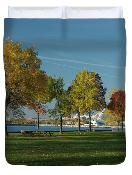 Autumn Trees Duvet Cover by Jonah  Anderson