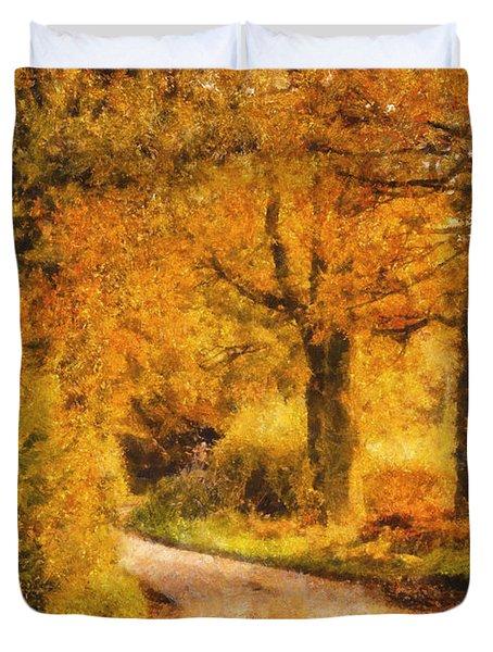Autumn Trees Duvet Cover by Pixel Chimp