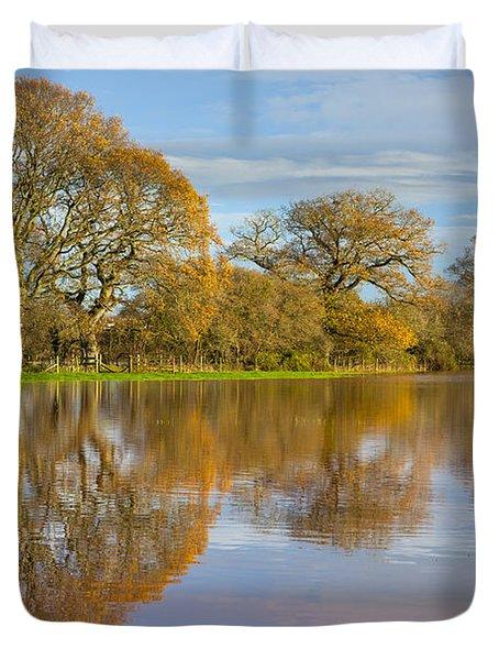 Autumn Trees Duvet Cover by Sebastian Wasek