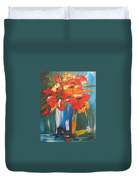 Autumn Vase Duvet Cover by Terri Einer