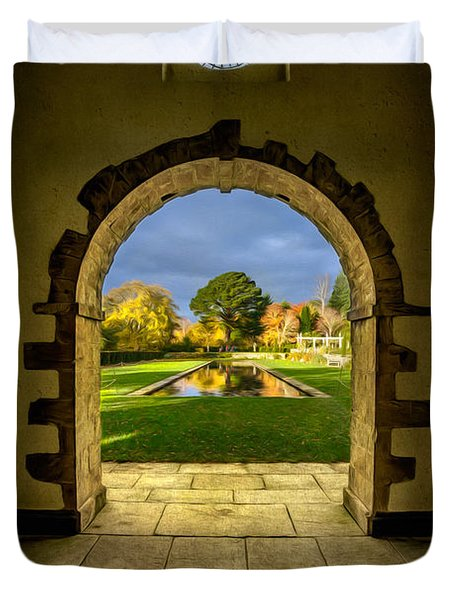 Autumn Views Duvet Cover by Adrian Evans