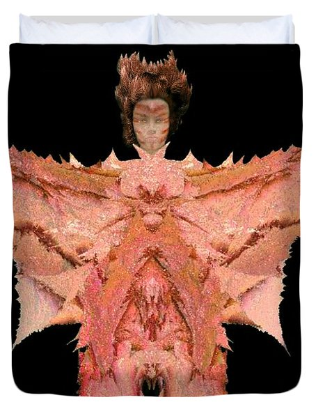 Autumn Warrior Goddess Duvet Cover