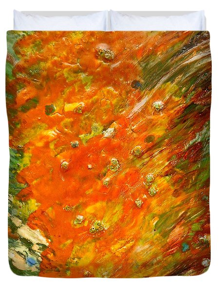 Duvet Cover featuring the painting Autumn Wind by Joan Reese