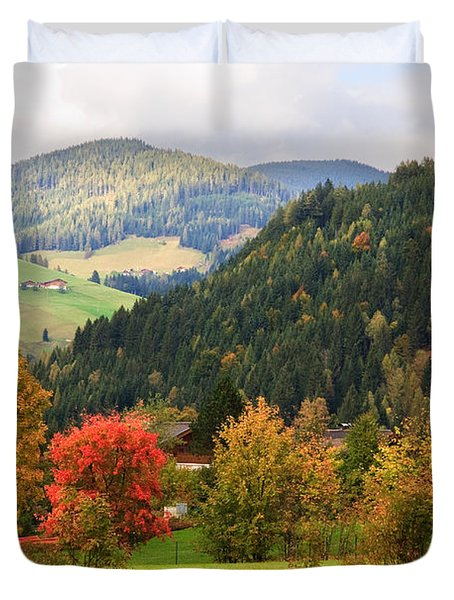 Autumnal Colours In Austria Duvet Cover