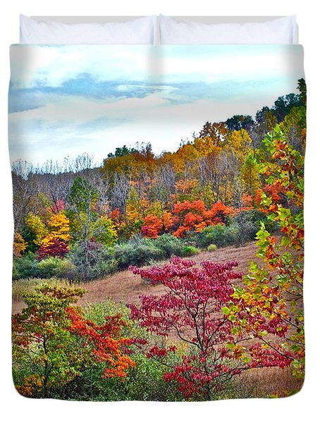Autumnal Vista Duvet Cover by Frozen in Time Fine Art Photography