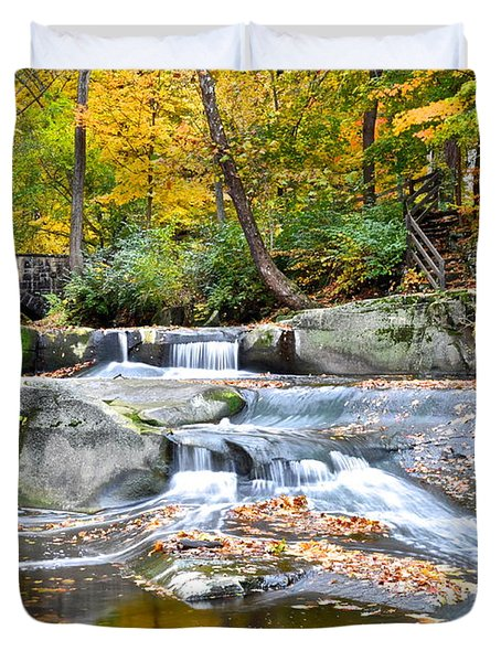 Autumnal Wonderland Duvet Cover by Frozen in Time Fine Art Photography