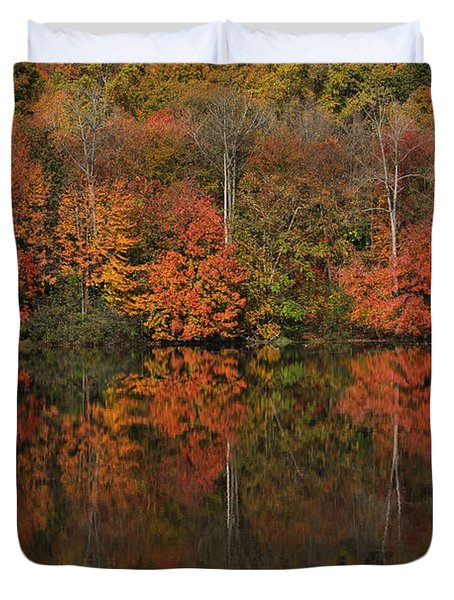 Autumns Design Duvet Cover by Karol Livote