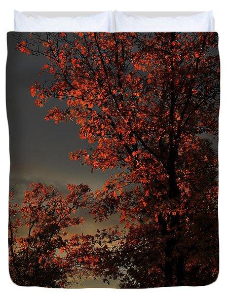 Autumn's First Light Duvet Cover