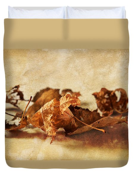 Autumn's Leavings Duvet Cover