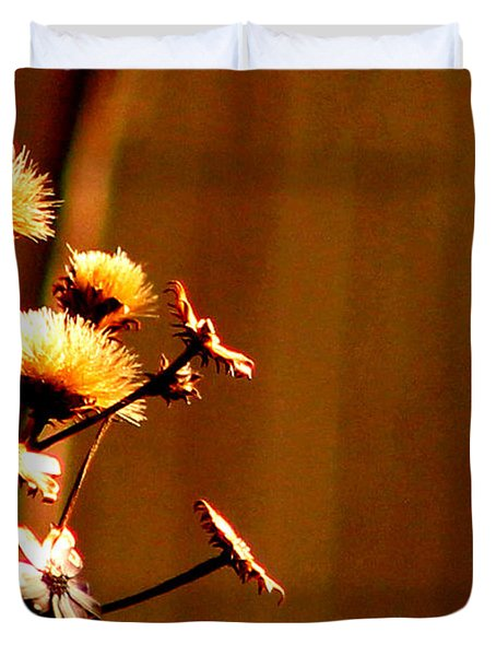 Duvet Cover featuring the photograph Autumn's Moment by Bruce Patrick Smith