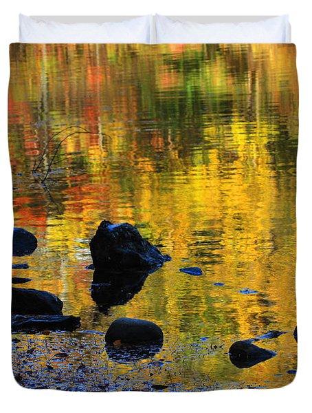Autumns Rainbow Duvet Cover by Karol Livote