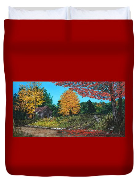 Autumns Rustic Path Duvet Cover
