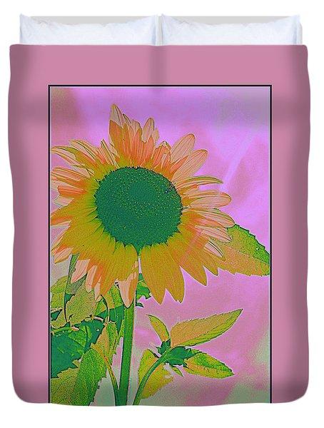 Autumn's Sunflower Pop Art Duvet Cover