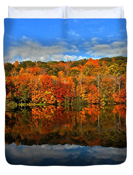 Autumnscape Duvet Cover by Karol Livote