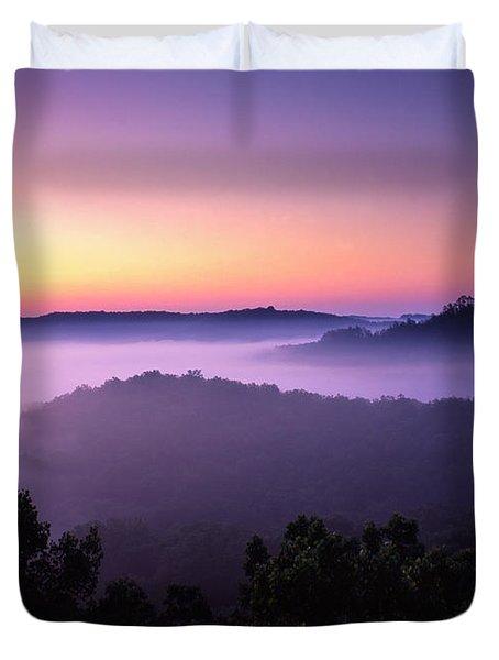 Auxier Ridge Dawn - Fm000023 Duvet Cover by Daniel Dempster