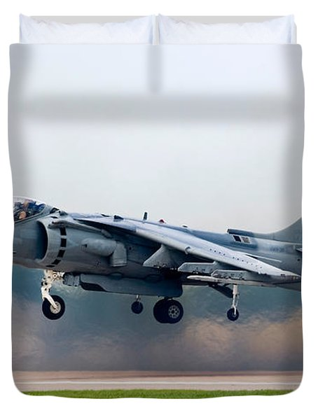 Av-8b Harrier Duvet Cover by Adam Romanowicz