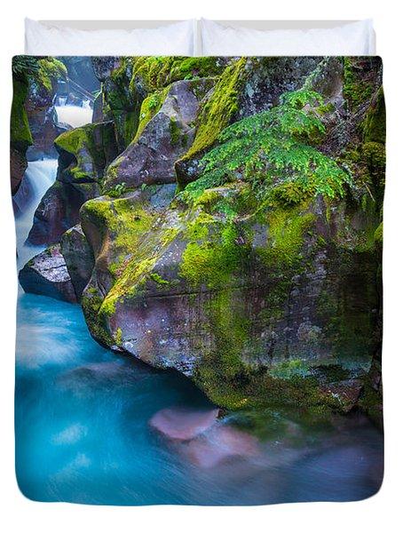 Avalanche Creek Gorge Duvet Cover