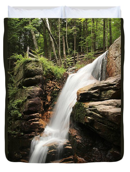 Duvet Cover featuring the photograph Avalanche Falls by Jemmy Archer