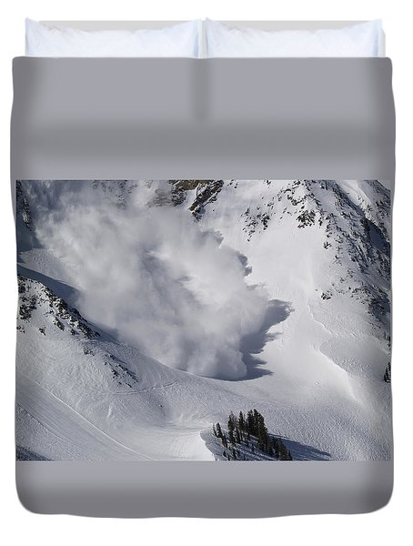 Avalanche Iv Duvet Cover by Bill Gallagher