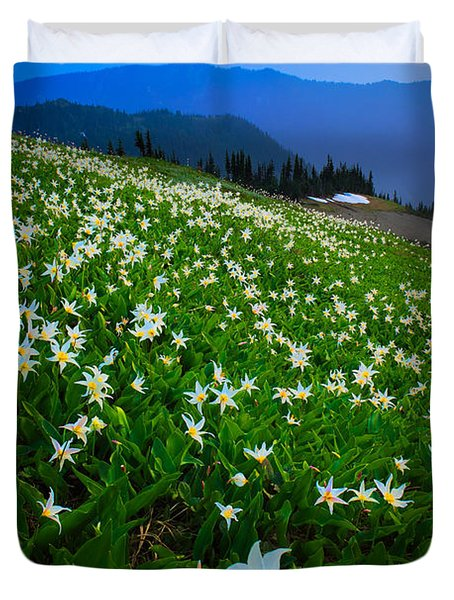 Avalanche Lily Field Duvet Cover