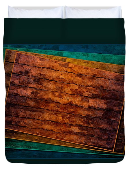 Duvet Cover featuring the photograph Avant Rust by WB Johnston