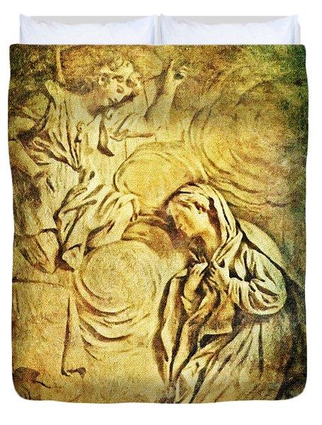Ave Maria...gratia Plena Duvet Cover by Lianne Schneider