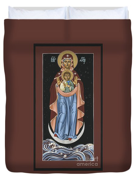 Duvet Cover featuring the painting Ave Maris Stella  Hail Star Of The Sea 044 by William Hart McNichols