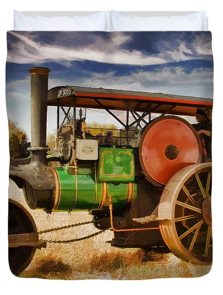 Duvet Cover featuring the photograph Aveling Porter Road Roller by Paul Gulliver
