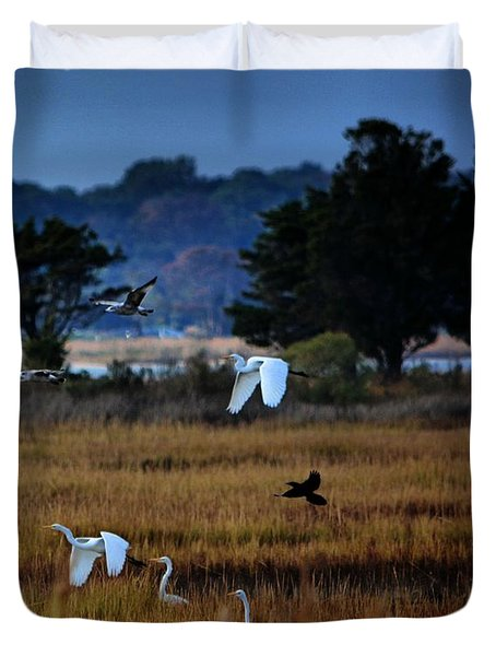 Aviary Convention Duvet Cover by Robert McCubbin