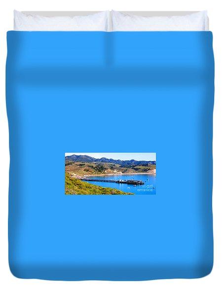 Avila Beach California Fishing Pier Duvet Cover