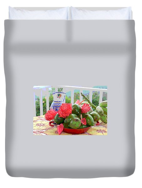 Avocados Duvet Cover by The Art of Alice Terrill