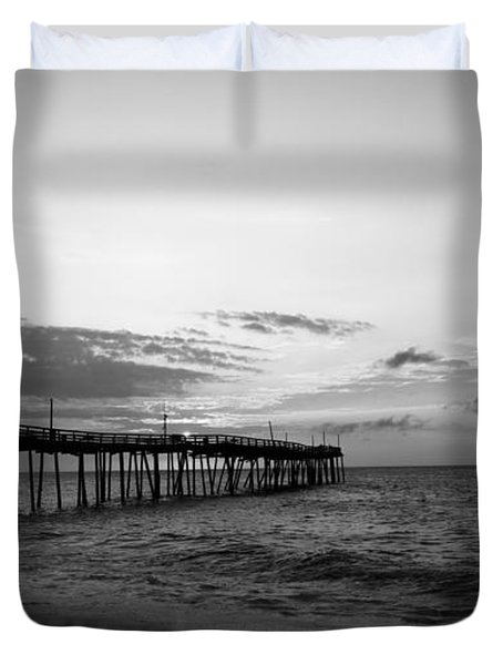 Avon Pier In Outer Banks Nc Duvet Cover