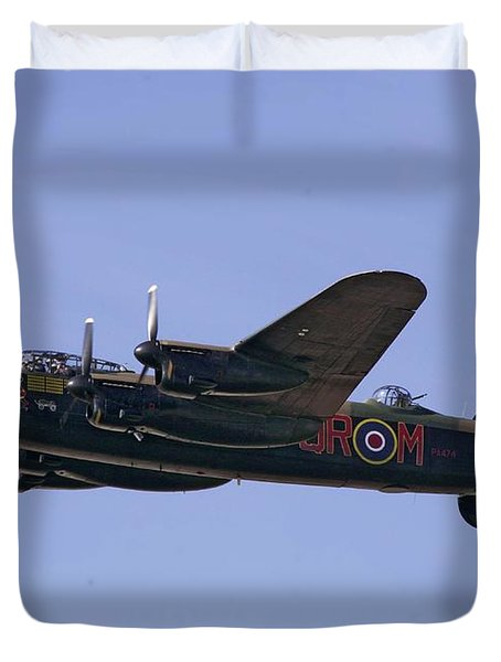 Avro 638 Lancaster At The Royal International Air Tattoo Duvet Cover by Paul Fearn